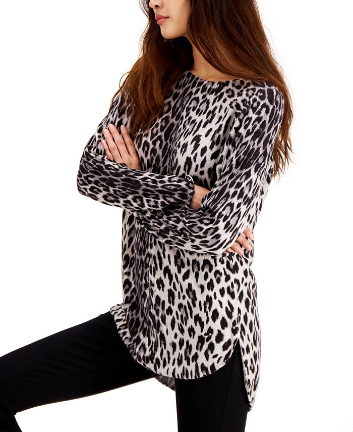INC International Concepts - Printed Shirttail Sweater