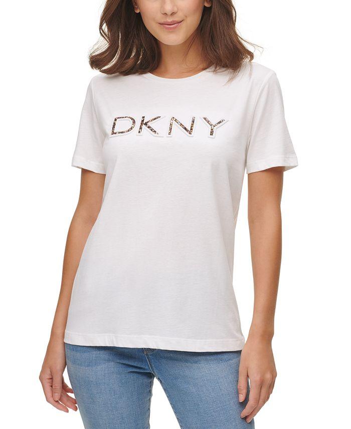 DKNY - Crewneck Rubber Glitter Logo Top