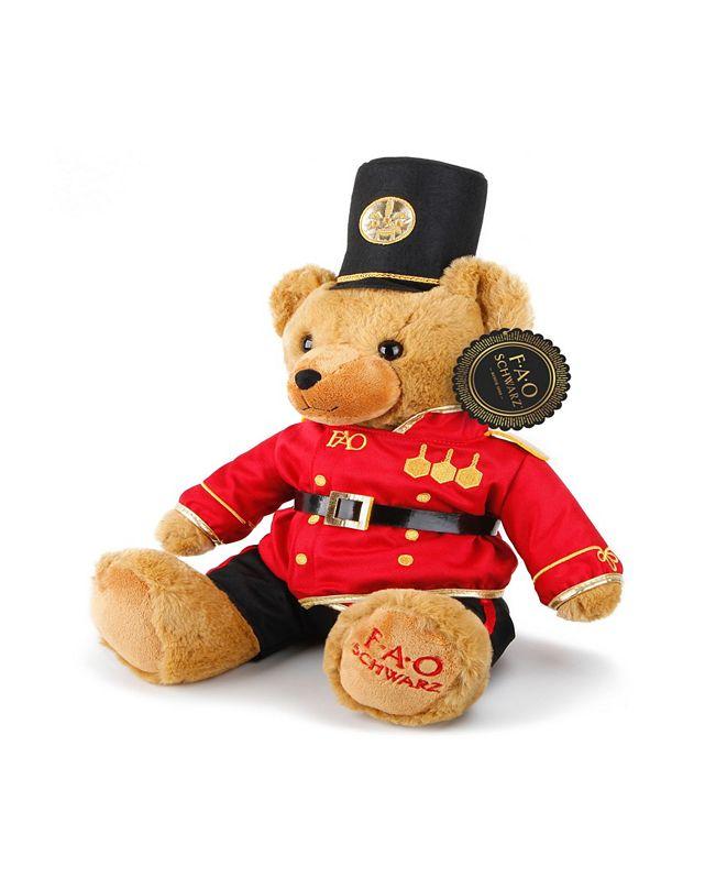 FAO Schwarz Toy Plush Anniversary Bear 12inch with Soldier Uniform