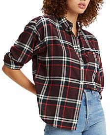 Levi's Cotton Plaid Flannel Shirt