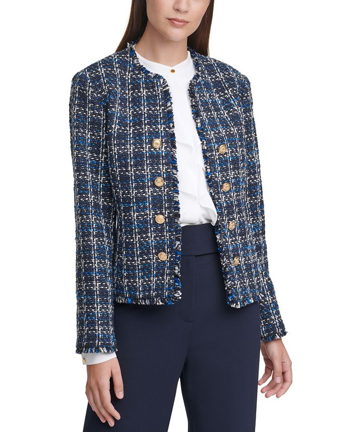 Calvin Klein - Tweed Cropped Jacket