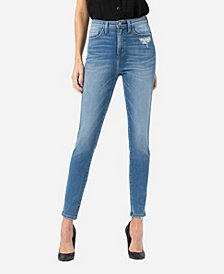 VERVET Women's Super High Rise Skinny Ankle Jeans