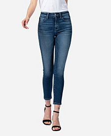 VERVET Women's High Rise Crop Skinny Jeans