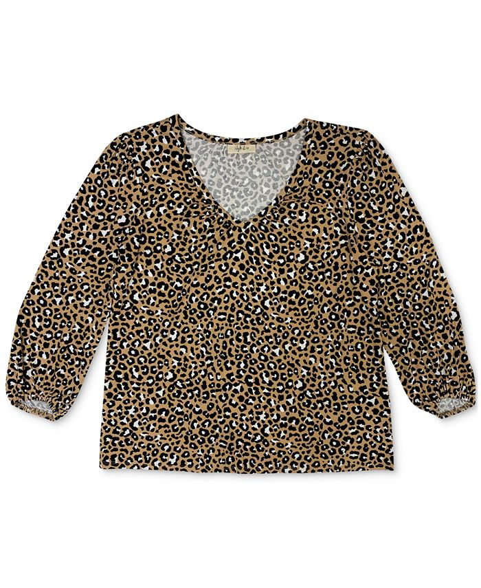 Style & Co - Plus Size Printed Top