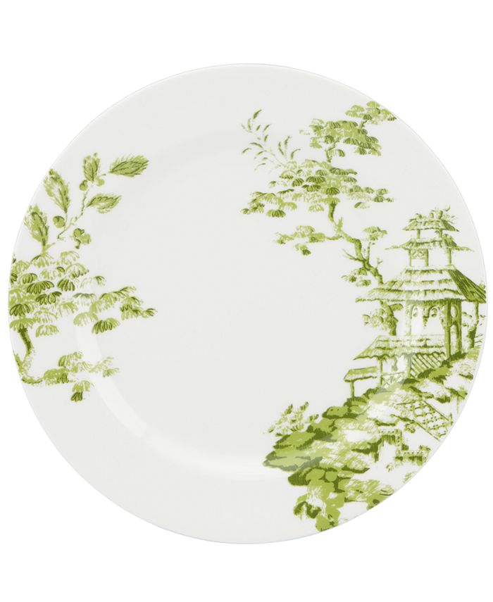Scalamandre - Toile Tale Chartreuse Dinner Plate