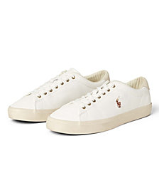 Polo Ralph Lauren Men's Perforated Leather Longwood Sneaker