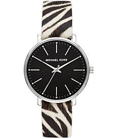 Michael Kors Women's Pyper Zebra Calf Hair Watch 38mm