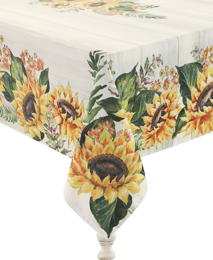 Laural Home - Sunflower Day 70x84 Tablecloth