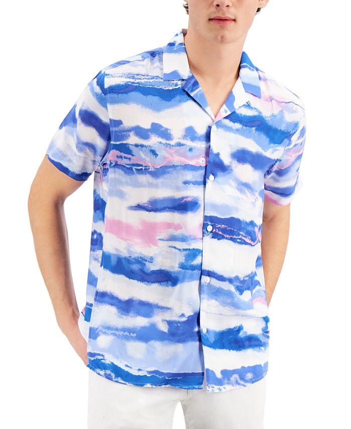 INC International Concepts - Men's Watercolor Striped Shirt