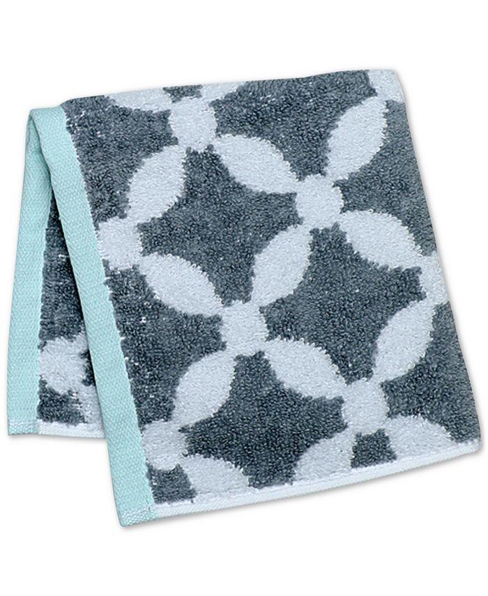 "Martha Stewart Collection - Dot Lattice 13"" x 13"" Wash Towel"