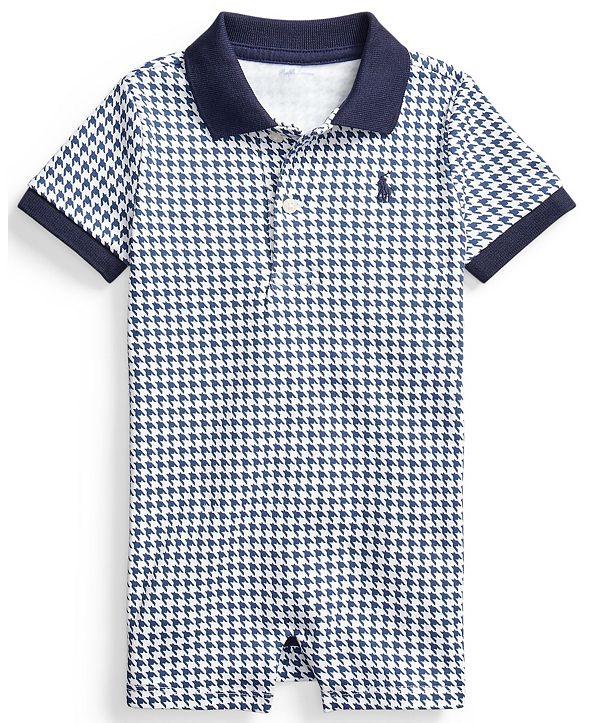 Polo Ralph Lauren Ralph Lauren Baby Boys Houndstooth Cotton Shortall