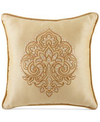 "CLOSEOUT! Waterford Sutton Square 18"" Square Decorative Pillow"