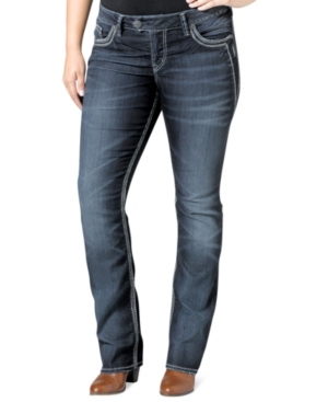 Silver Jeans Plus Size Tuesday Skinny-Leg Jeans, Indigo Wash