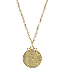 2028 Women's Gold Tone December Flower of the Month Narcissus Necklace