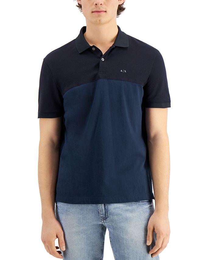 A|X Armani Exchange - Men's Two Tone Logo Polo Shirt