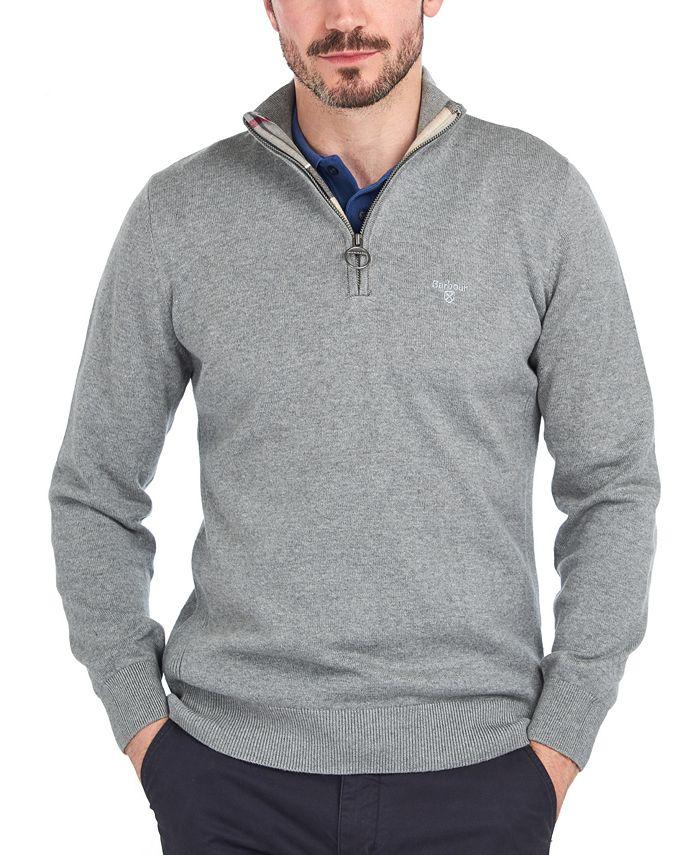 Barbour - Men's Half-Zip Cotton Sweater