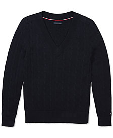 Tommy Hilfiger Adaptive Women's V-Neck Sweater with Velcro® Shoulder Closures