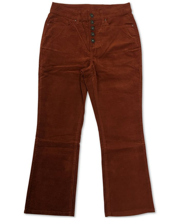 Style & Co - Plus Size Button Down Corduroy Pants