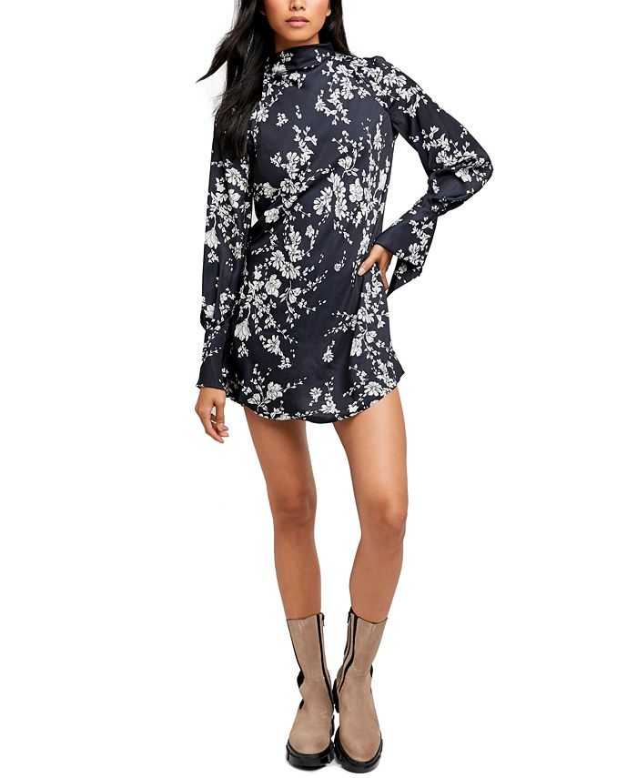 Free People - Aries Printed Cutout Mini Dress