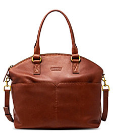 American Leather Co. Carrie Leather Dome Satchel