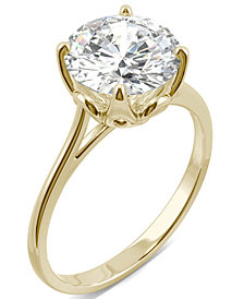 Moissanite Round Solitaire Ring (2-3/4 ct. tw. Diamond Equivalent) in 14k White Gold or 14k Yellow Gold