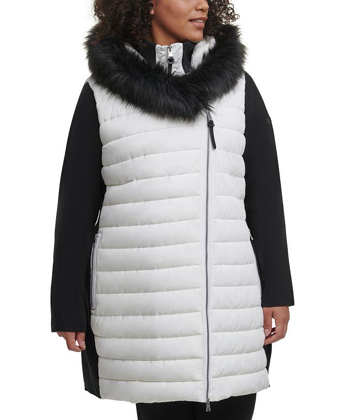 Calvin Klein - Plus Size Hooded Sweater-Sleeve Jacket
