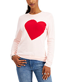 Tommy Hilfiger Cotton Heart Intarsia Sweater