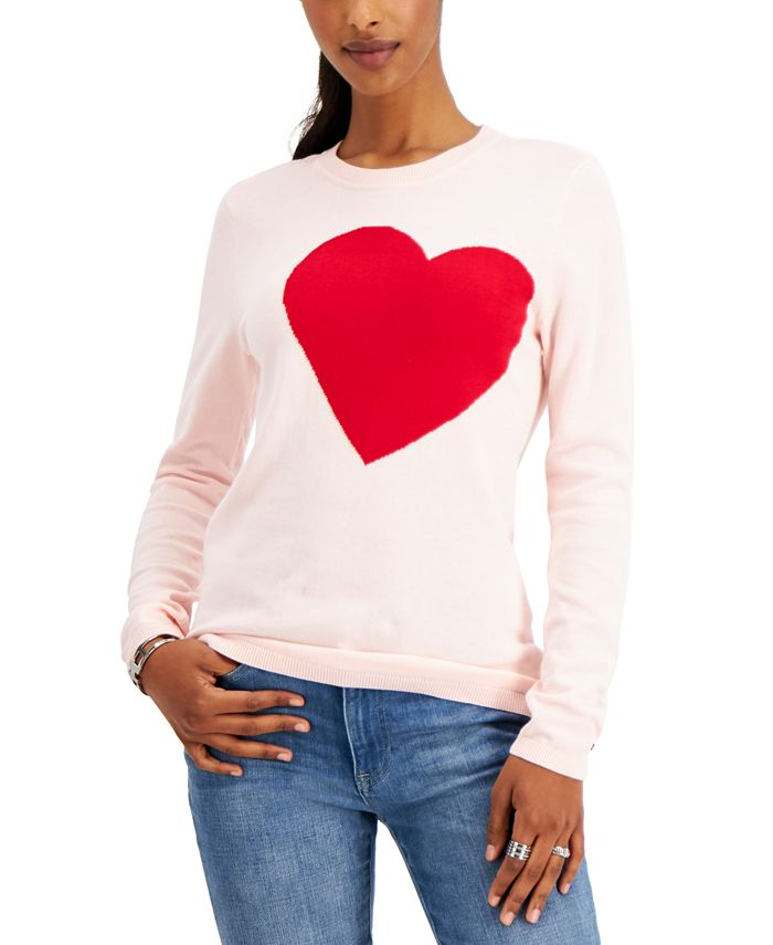 Tommy Hilfiger - Cotton Heart Intarsia Sweater