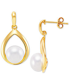 Giani Bernini Cultured Freshwater Pearl (8mm) Drop Earrings, Created for Macy's