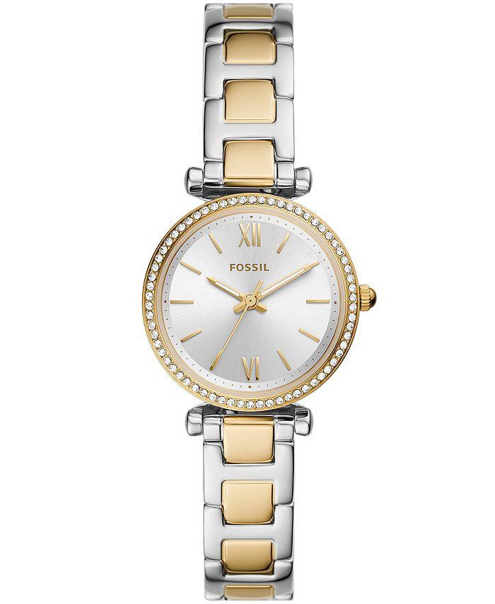 Fossil - Women's Carlie Mini Two-Tone Two-Tone Bracelet Watch 28mm