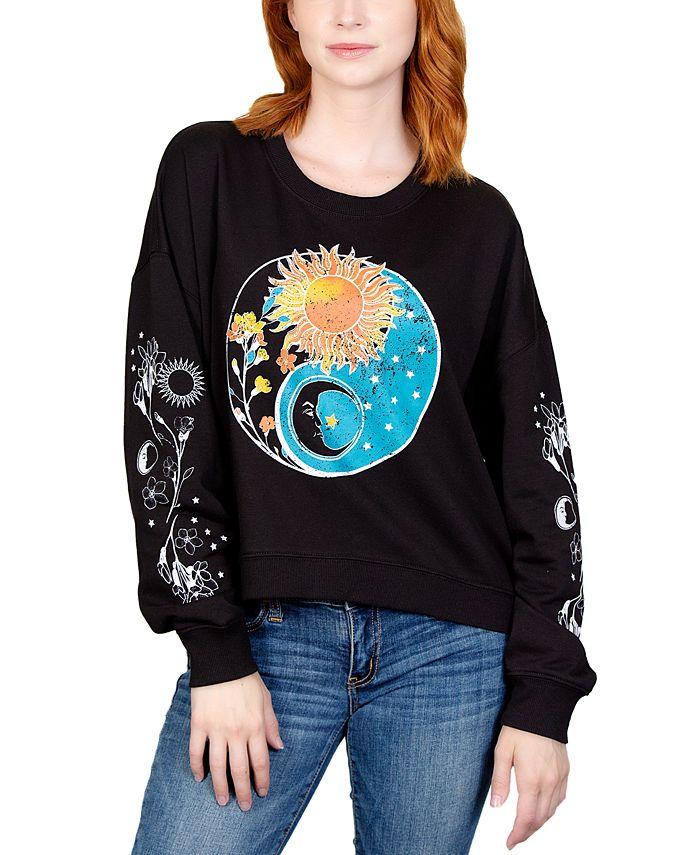 Rebellious One - Juniors' Celestial Graphic Print T-Shirt