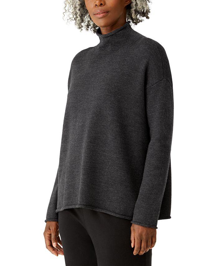Eileen Fisher - Wool Funnel Neck Sweater