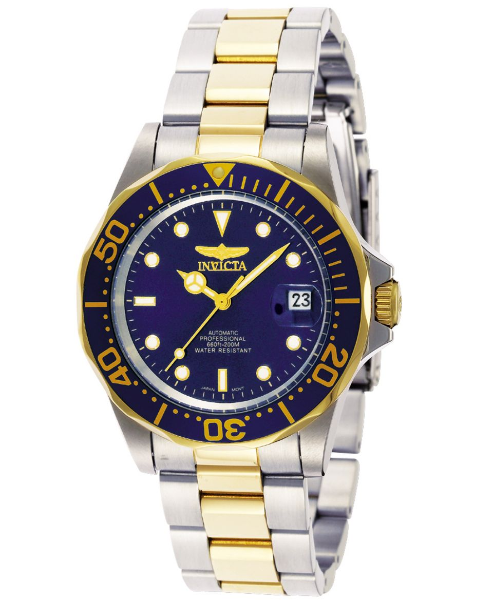 Invicta Mens Swiss Automatic Pro Diver Two Tone Stainless Steel Bracelet Watch 40mm 8928   Watches   Jewelry & Watches