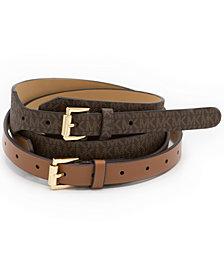Michael Michael Kors 2-For-1 Double Wrap Belt