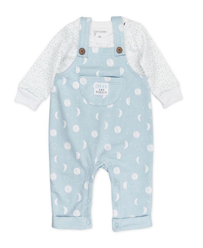 Mac & Moon Baby Boy or Girl 2pc Overall Set
