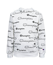 Champion Toddler Boys AOP Shadow Script Hoodie