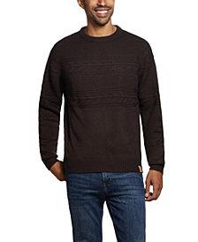Men's Jacquard Yoke Crew Neck Sweater