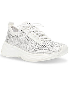 Steve Madden Women's Cease Rhinestone Lace-Up Trainers