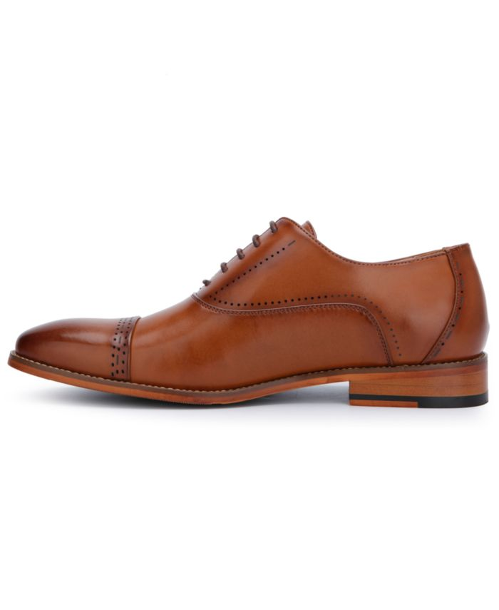 Kenneth Cole Reaction Men's Booker Faux-Leather Lace-Up Oxford Dress Shoes  & Reviews - All Men's Shoes - Men - Macy's