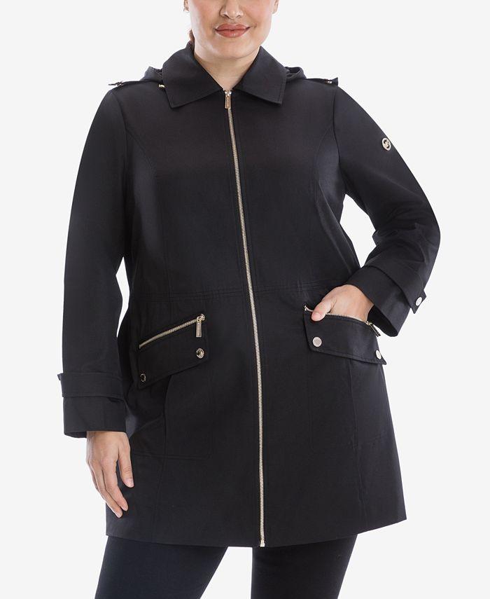Michael Kors - Plus Size Hooded Raincoat