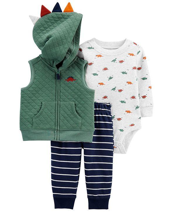 Carter's Baby Boys 3-Piece Dinosaur Little Vest Set