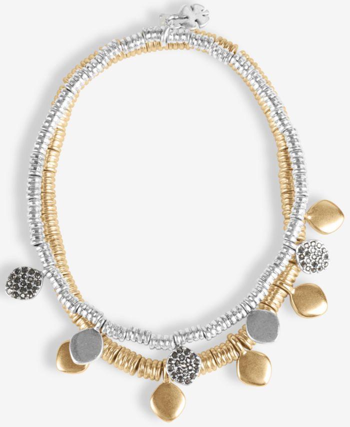 Lucky Brand Two-Tone 2-Pc. Set Pavé Beaded Stretch Bracelets & Reviews - Bracelets - Jewelry & Watches - Macy's