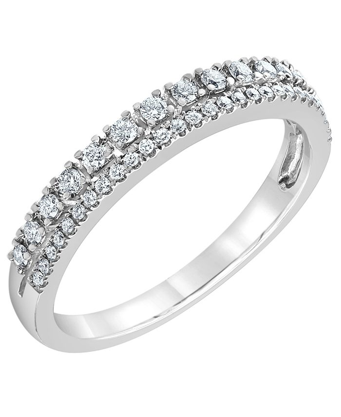 Macy's - Diamond Band Ring (1/4 ct. t.w.) in 14k White Gold