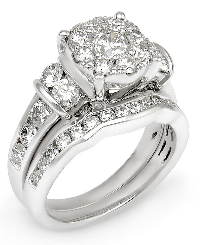 Macy's - Diamond Composite Bridal Set (2-1/2 ct. t.w.) in 14k White Gold