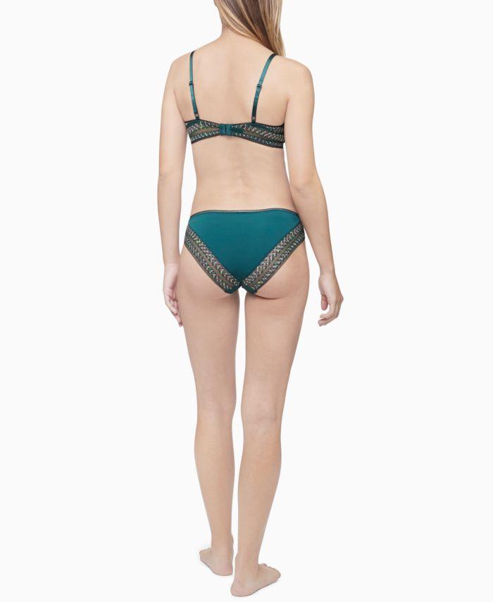 Calvin Klein Women's Stripe Lace Bikini Underwear QF5875 & Reviews - Bras, Panties & Lingerie - Women - Macy's