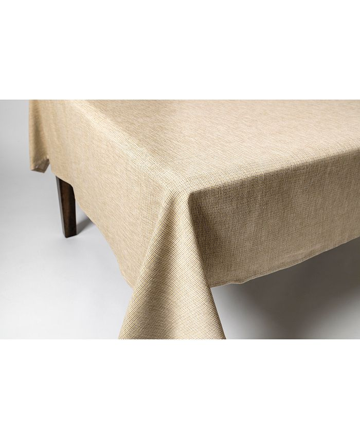 "Lintex - Tweed 100% Cotton Tablecloth 60""x84"" Green"