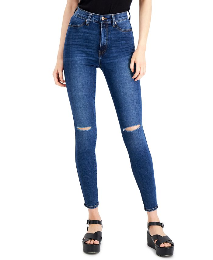 Celebrity Pink - Juniors' Cotton Curvy High-Rise Skinny Jeans