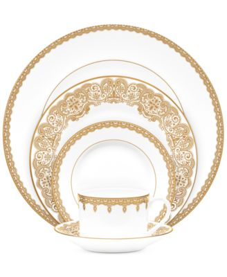 Waterford Lismore Lace Gold 5 Piece Place Setting