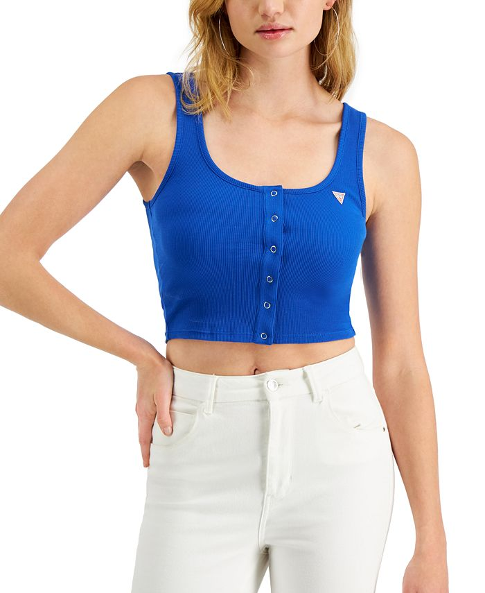 GUESS - Juniors' Logo Crop Tank Top