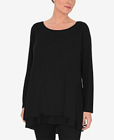 Live Unlimited Plus Size Jersey Top with Cross Back Detail